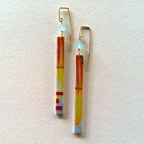 Hawaii Inspired Paper Earrings