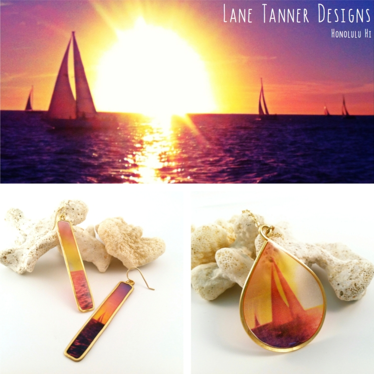 Sailboats at Sunset Lane Tanner Jewelry Design
