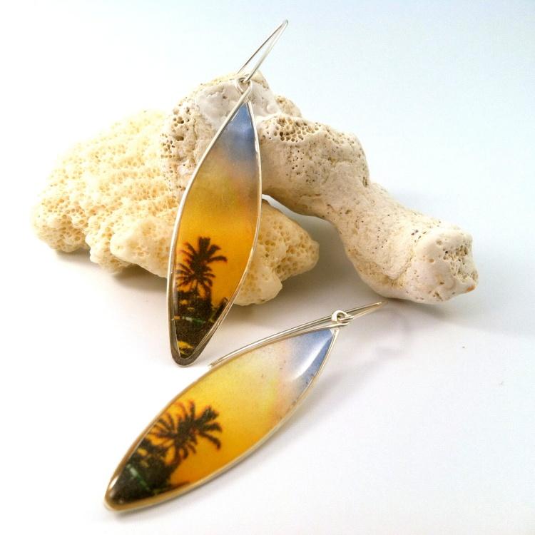 Rainbow Palmtree Earrings