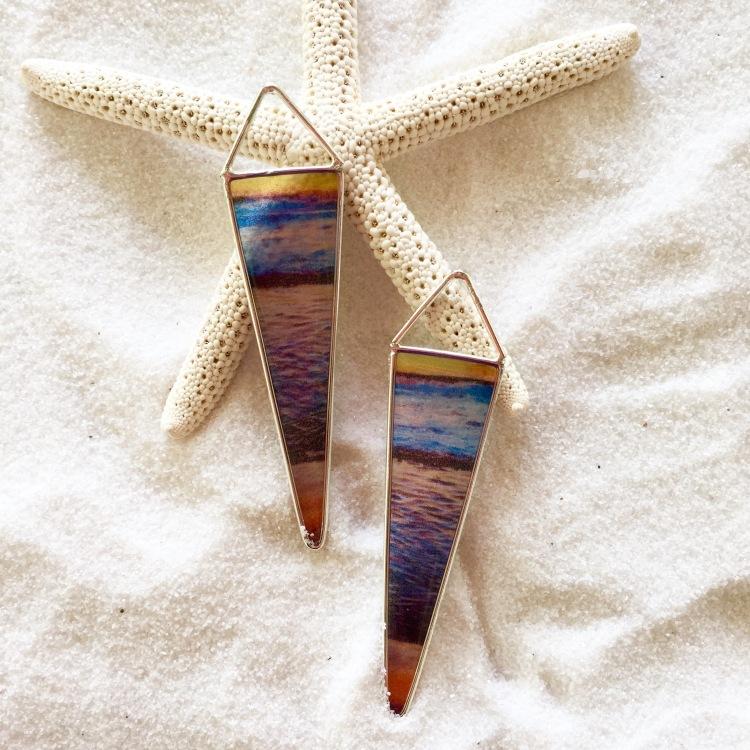 Spectrum Sunset Earrings, Lane Tanner Designs